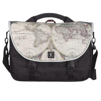 Vintage Map of The World (1685) Laptop Commuter Bag