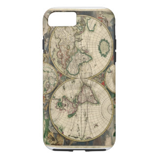 Vintage Map of The World (1689) iPhone 7 Case