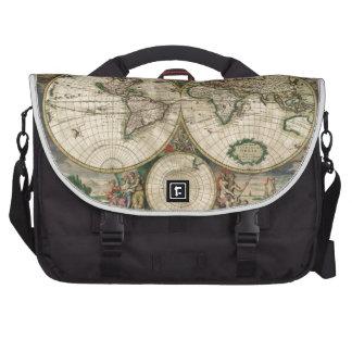 Vintage Map of The World (1689) Laptop Bag