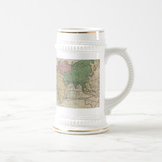 Vintage Map of The World (1744) Beer Stein