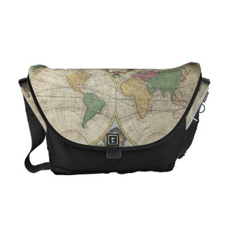 Vintage Map of The World (1744) Courier Bag