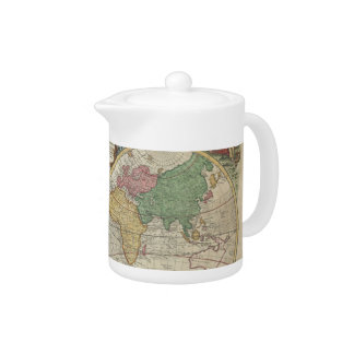 Vintage Map of The World (1744) Teapot