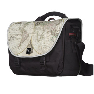Vintage Map of The World (1775) Commuter Bags