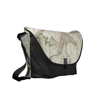 Vintage Map of The World (1775) Messenger Bag