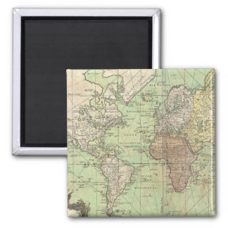 Vintage Map of The World (1778) Magnet