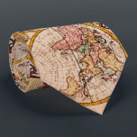 """Vintage Map of The World (1782) - Stylized Tie<br><div class=""""desc"""">This is a stylized vintage map of the world originally produced in 1782.</div>"""