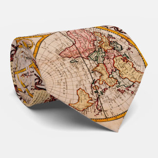 Vintage Map of The World (1782) - Stylized Tie
