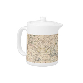 Vintage Map of The World (1799) Teapot