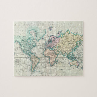 Old world map jigsaw puzzles zazzle vintage map of the world 1801 jigsaw puzzle gumiabroncs Image collections