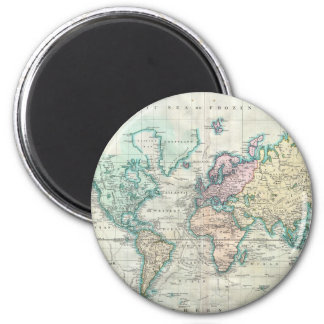 Vintage Map of The World (1801) Magnet
