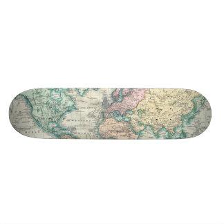 Vintage Map of The World (1801) Skateboard