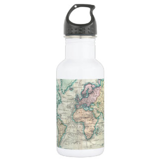 Vintage Map of The World (1801) Stainless Steel Water Bottle