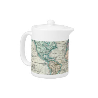Vintage Map of The World (1801) Teapot