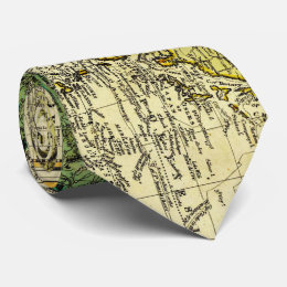 Vintage Map of The World (1823) - Stylized Tie