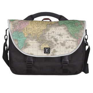 Vintage Map of The World (1827) Commuter Bags
