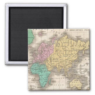 Vintage Map of The World (1827) Magnet