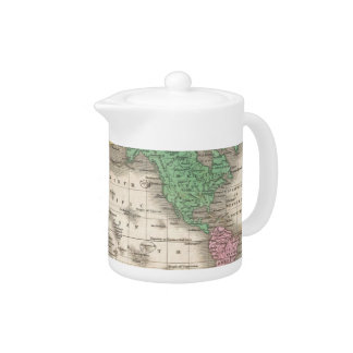 Vintage Map of The World (1827) Teapot