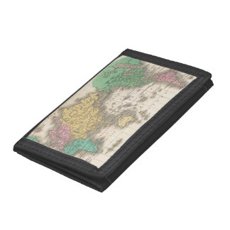 Vintage Map of The World (1827) Tri-fold Wallet