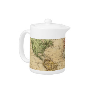 Vintage Map of The World (1831) Teapot