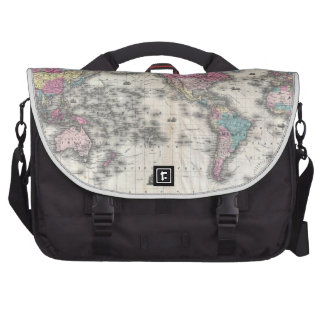 Vintage Map of The World (1852) Bags For Laptop