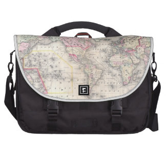 Vintage Map of The World (1864) Commuter Bags