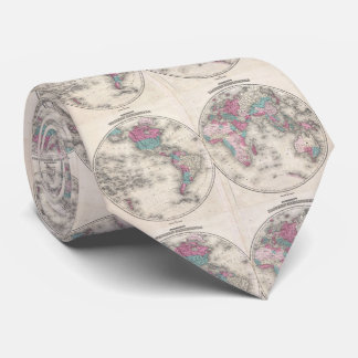Vintage Map of The World (1866) Tie