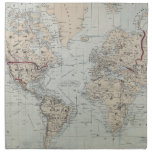 Vintage Map of The World (1875) Napkin<br><div class='desc'>This is a vintage map of the World produced in 1875.</div>