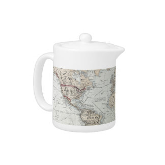 Vintage Map of The World (1875) Teapot