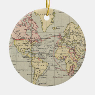 Vintage Map of The World (1914) Ceramic Ornament