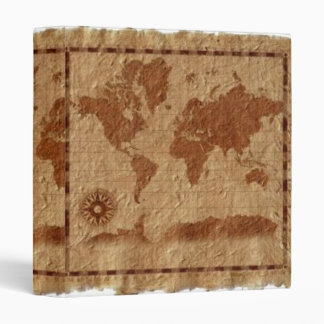 Vintage Map of the World Avery Binder
