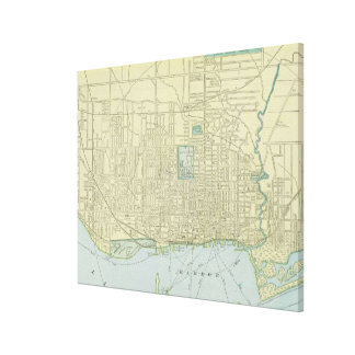 Vintage Map of Toronto (1901) Canvas Print