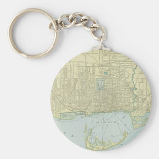 Vintage Map of Toronto (1901) Keychain