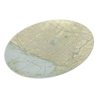 Vintage Map of Toronto 1901 Party Plate