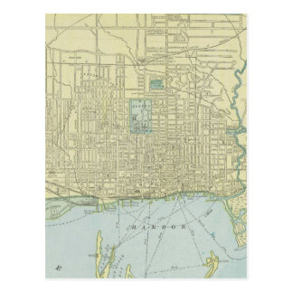 Vintage Map of Toronto 1901 Post Cards