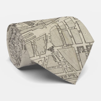 Vintage Map of Toulouse France (1844) Neck Tie