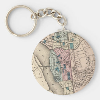 Vintage Map of Trenton NJ (1872) Keychains