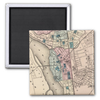 Vintage Map of Trenton NJ (1872) Magnet