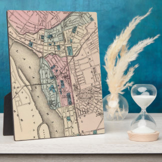Vintage Map of Trenton NJ (1872) Photo Plaques