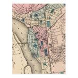 Vintage Map of Trenton NJ (1872) Postcard
