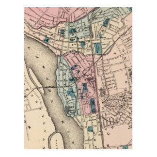 Vintage Map of Trenton NJ 1872 Post Card