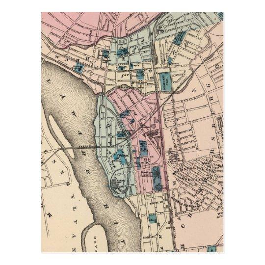 Vintage Map of Trenton NJ 1872 Postcard Zazzlecom