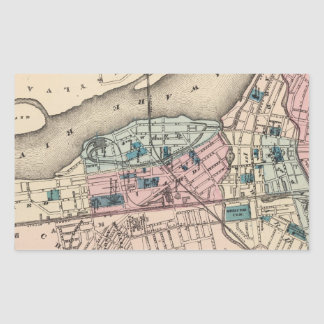 Vintage Map of Trenton NJ (1872) Rectangular Sticker