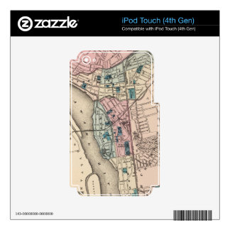 Vintage Map of Trenton NJ (1872) Skins For iPod Touch 4G