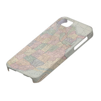 Vintage Map of United States iPhone 5 Cases