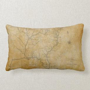 Vintage Usa Map Pillows Decorative Throw Pillows Zazzle