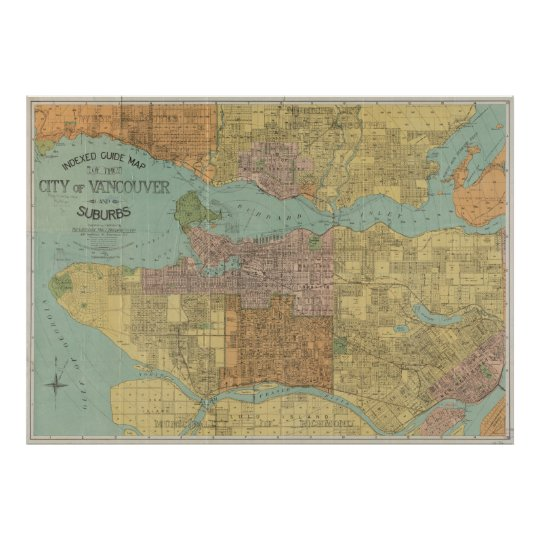 Vintage map of vancouver canada 1920 poster zazzle vintage map of vancouver canada 1920 poster gumiabroncs Image collections