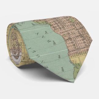 Vintage Map of Vancouver Canada (1920) Tie