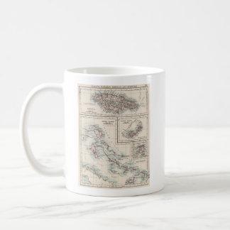 Vintage Map of Various Caribbean Islands (1906) Coffee Mug