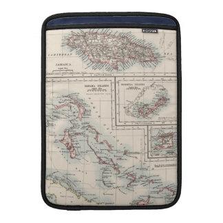 Vintage Map of Various Caribbean Islands (1906) MacBook Sleeve