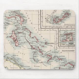Vintage Map of Various Caribbean Islands (1906) Mouse Pad